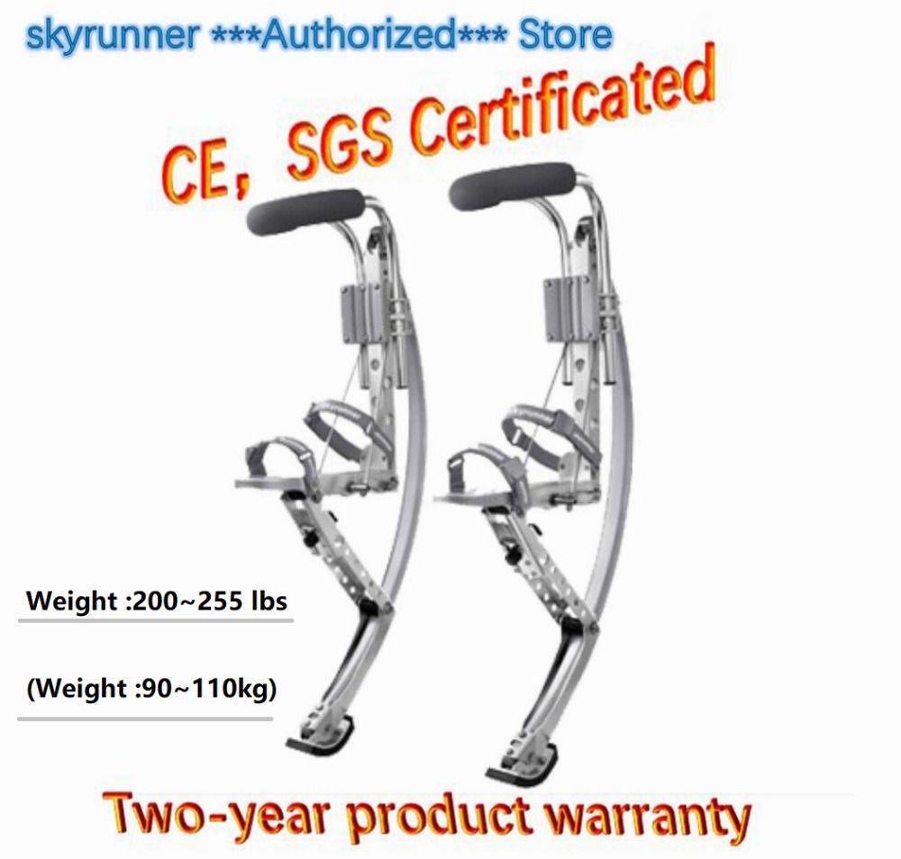 Jump stelzen Skyrunner Gewicht 200 ~ 255 £/90 ~ 110 kg Weihnachten geschenk für erwachsene Silber Farbe/ jump schuhe/Fliegende Schuhe/Outdoor sport
