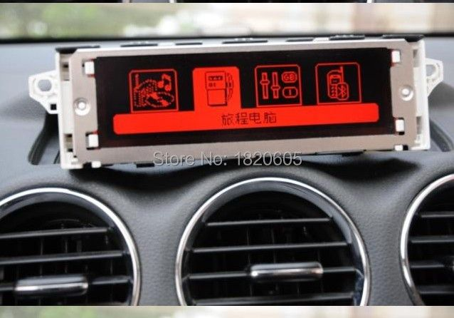 10Pcs Original factory Red screen support USB Bluetooth 4 menu Display monitor 12 pin for Peugeot 307 407 408 for citroen C4 C5