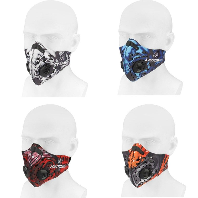 Hight Quality Activated Nylon Anti Dust Pollution Mountain Bike Half Face Mask Bicycle Filter Cycling Equipment 4 Colors