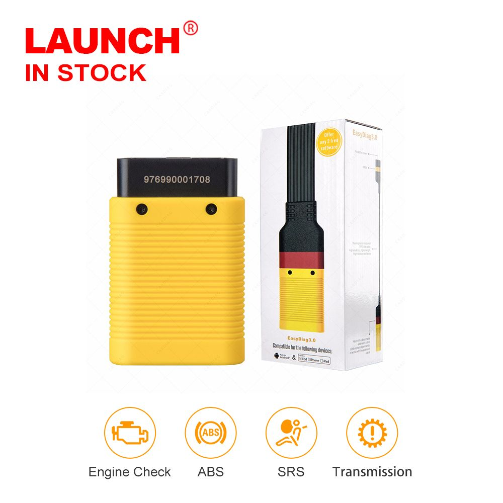 Launch X431 Easydiag 3.0 <font><b>Automotive</b></font> obd2 Diagnostic Tool for Android OBD2 Bluetooth Adapter scanner good than easydiag 2.0 Plus