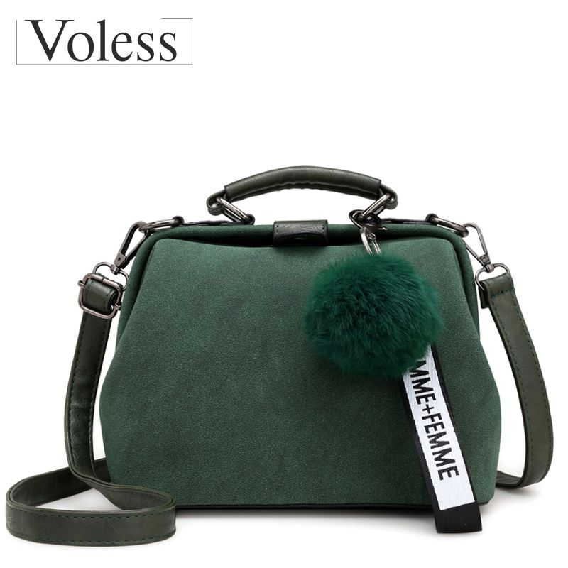 Shell Bag Women Leather Handbags Fashion Hairball Women Messenger Bags Bolsa Feminina Shoulder Bags Ladies Tote Bag Sac A Main