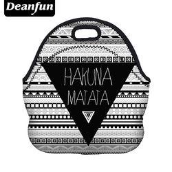 Beanfun 3D impreso almuerzo bolsa para las mujeres nueva moda neopreno patrón de rayas con cremallera picnic snack 50816