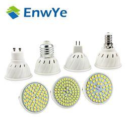 EnwYe E27 E14 MR16 GU10 Lampada Led-lampe 220 v 240 v Bombillas LED Lampe Scheinwerfer 48 60 80 LED 2835 SMD Lampara Spot cfl
