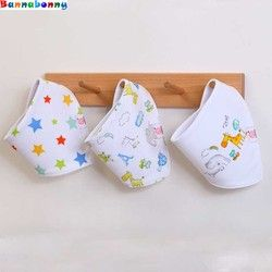 3 PCS/Set Bayi Katun Bavoir Handuk baberos Babador Bandana Oto Bayi Saliva Oto bebes Babadores Untuk Bayi Yang Baru Lahir