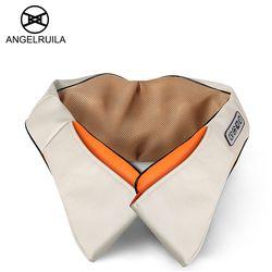 Angelruila U Форма car/дома Средства ухода за кожей шеи массажер электрические шиацу плечо назад Средства ухода за кожей массажеры инфракрасный 3D ...