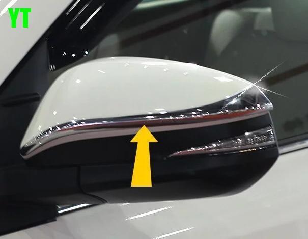 Couvercle de rétroviseur de voiture, garniture de rétroviseur arrière automatique pour Toyota Highlander 2015, chrome ABS, 2 pc/lot, style de voiture