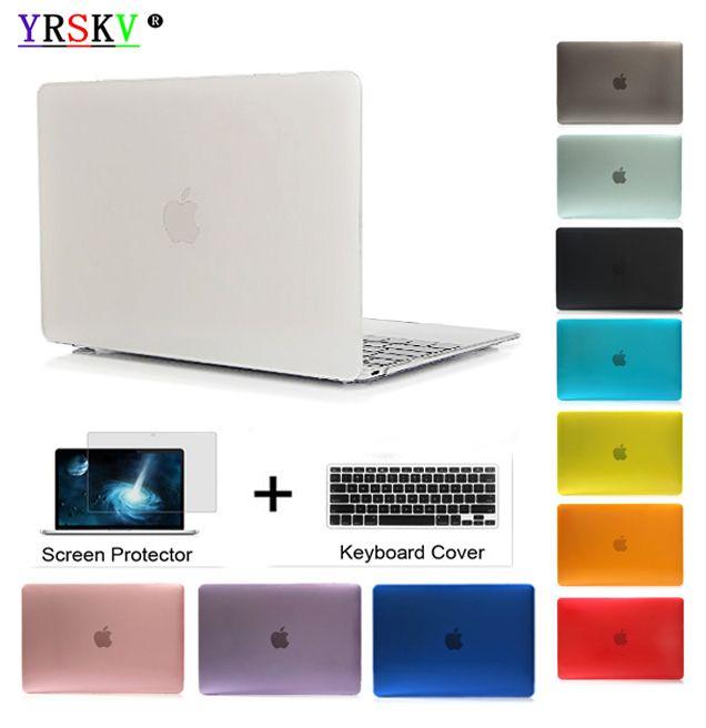 YRSKV-Cristal \ Mat Transparent cas Pour Apple macbook Air Pro Retina 11 12 13 15 ordinateur portable sac pour macbook Air 13 housse + cadeau