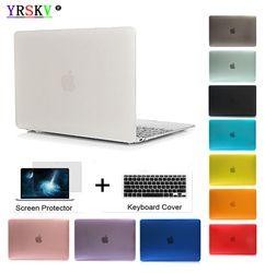YRSKV-Crystal\Matte Transparent case For Apple macbook Air Pro Retina 11 12 13 15 laptop bag for macbook Air 13 case cover +gift