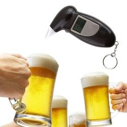 Professional Alcohol Breath Tester Breathalyzer Analyzer Detector Test Keychain Breathalizer Breathalyser DeviceLCD Screen