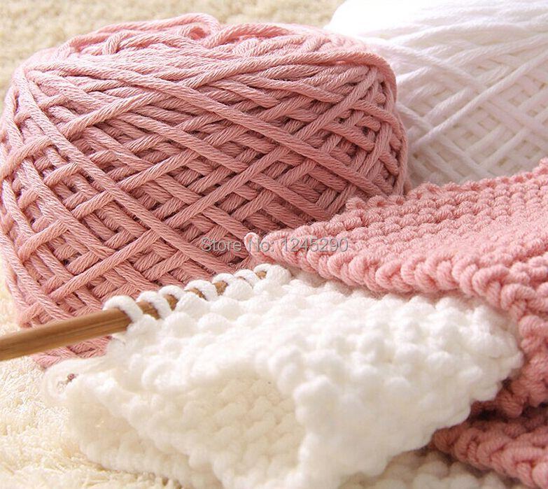 400 г молоко хлопка толщиной Пряжа для вязания шарф для ручного вязания крючком Пряжа зима теплая 200 г * 2 шары Бесплатная доставка