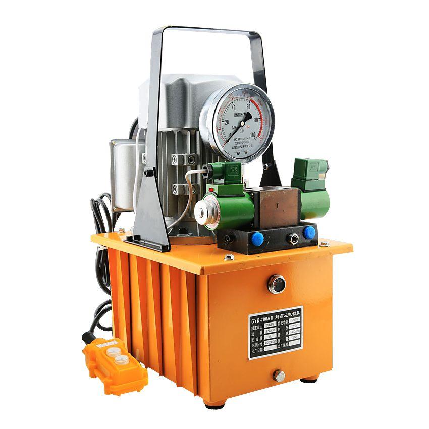 8L Double Action Elektrische Hydraulische Pumpe Hochdruck GYB-700AII Tank kapazität hydraulische Motor Öl pumpe 220 V 1400r/min 750 W