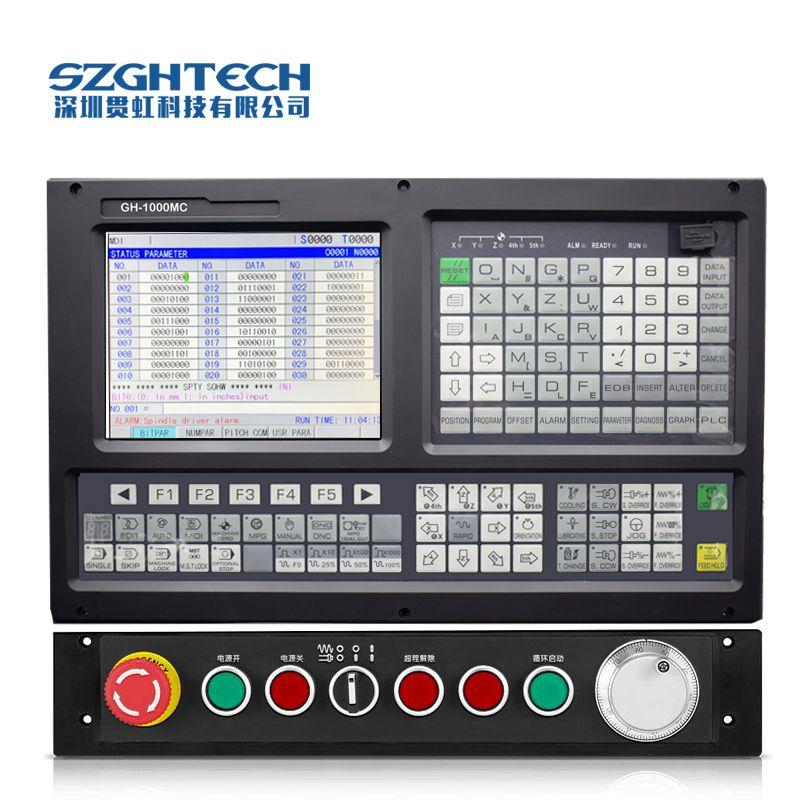4 achsen skulptur holz carving cnc router maschine Controller Unterstützung ATC + PLC, mit Kommunikation software für cnc fräsen controll