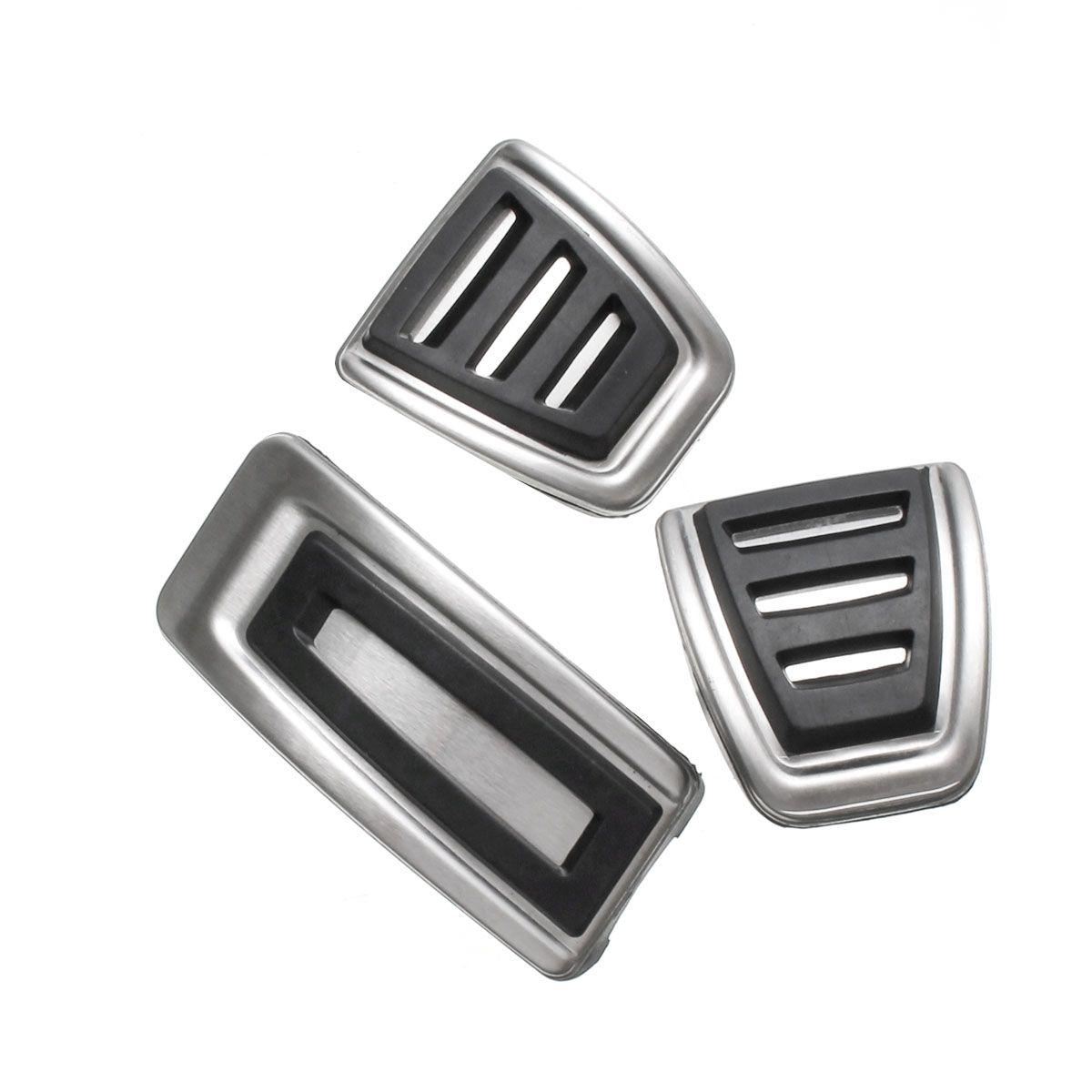 3 teile/satz Auto Kupplung Bremse Gaspedal Fußstütze Pad Abdeckungen Für Sitz/Skoda/Fabia/VW/Polo 9N 6R/Bora/Golf MK4 IV