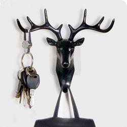 ELK gancho para creativo pared para tie organizador sombrero/bolsa/joyería ciervos estante Decoración Ropa oficina estante hogar gancho