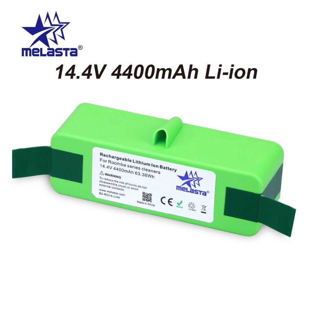 4.4Ah 14.4V Li-ion Battery with Brand Cells for iRobot Roomba 500 600 700 800 980Series 510 530 550 560 650 770 780 870 880 R3