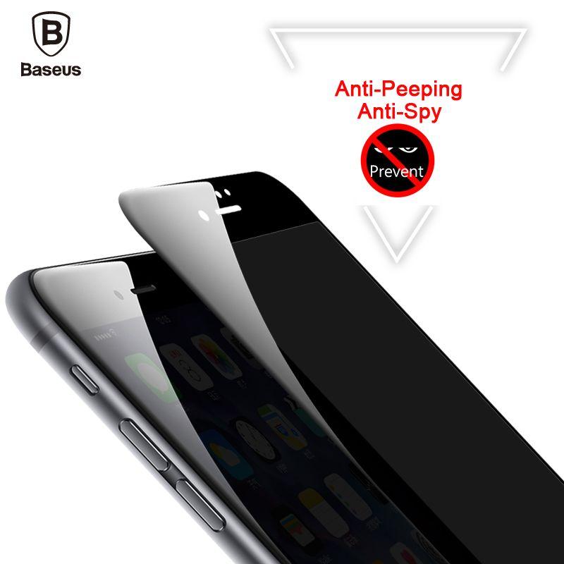 Baseus Anti Espion Protecteur D'écran Pour iPhone 8 7 6 6 s Anti espion Trempé Verre Pour iPhone 8 7 6 6 s Plus Confidentialité 3D Film