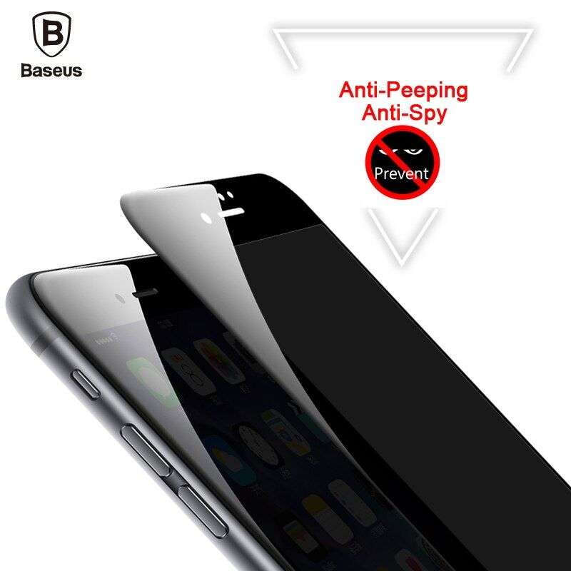 Baseus Anti Spy Screen Protector For iPhone 8 7 6 6s Anti Peeping Tempered Glass For iPhone 8 7 6 6s Plus Privacy 3D Film