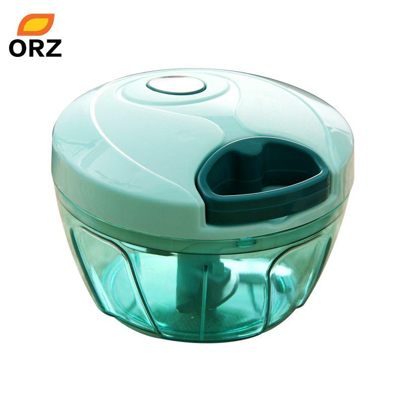 ORZ Multifunctional Hand Food Processor Fruit Vegetable Meat Chopper Mincer Crusher Salad Tools Kitchen Food Chopper Mixer Bowl