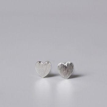 LouLeur 100% 925 coração de prata esterlina brincos de prata do parafuso prisioneiro geométrica praça plum blossom triângulo rodada brincos para as mulheres presente