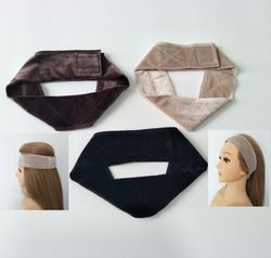 New arrival hand made non-slip wig grip band for holding your wig, hat or scarf with colors  black, brown,blond