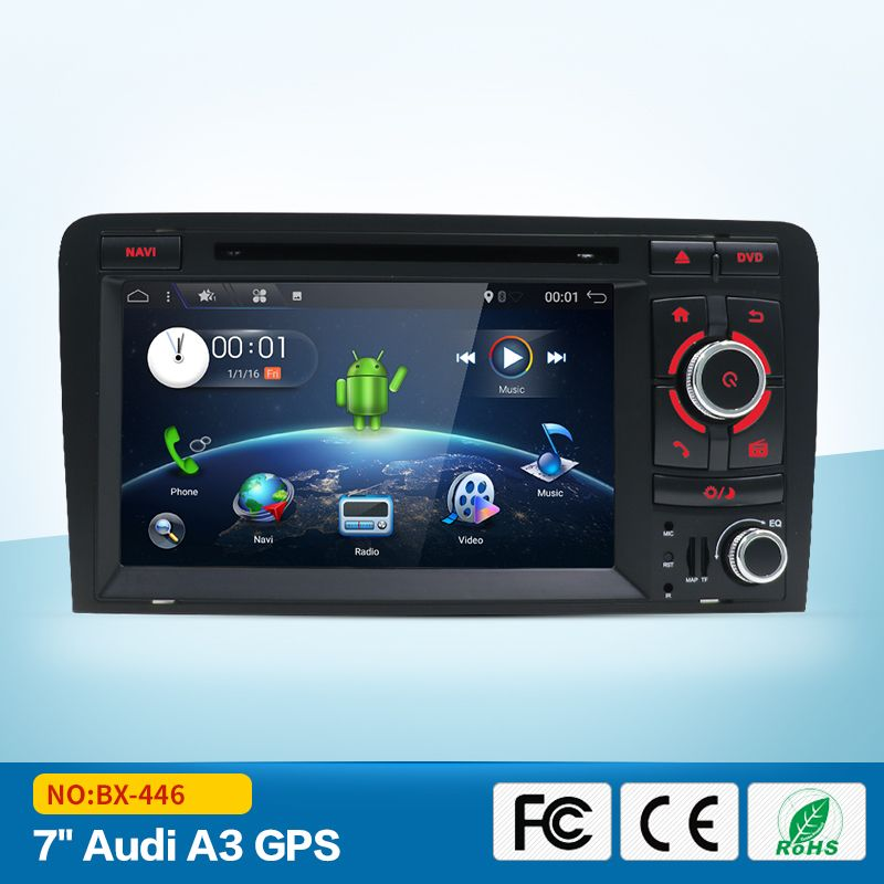 Android 2 Din Car DVD Player GPS Radio For Audi A3 S3 2003-2011 2 din car GPS Navigation stereo Audio Video Bluetooth SWT FM MAP