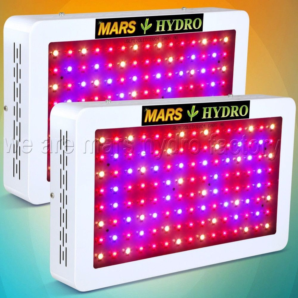 2pcs Mars Hydro 600W LED Grow Light Full Spectrum Hydroponic System Indoor Plant for Grow Tent, Greenhouse