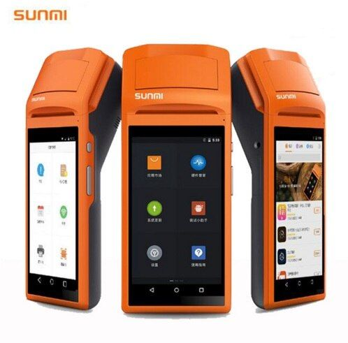 SM-V1 5,5 Zoll Touch Screen Handheld 3G Andoid Mini Pos-maschine mit Bluetooth Wifi Thermische Minipositions-drucker