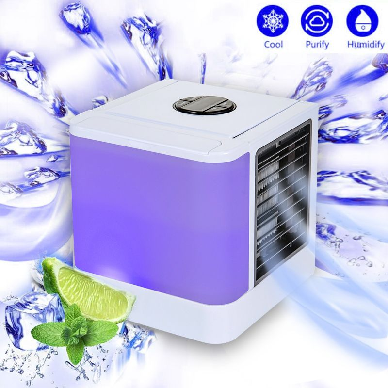 2018 Personal Air Cooler Arctic Air Personal Space Cooler Conditioner Quick & Easy Portable Device Home Office Desk USB Fan