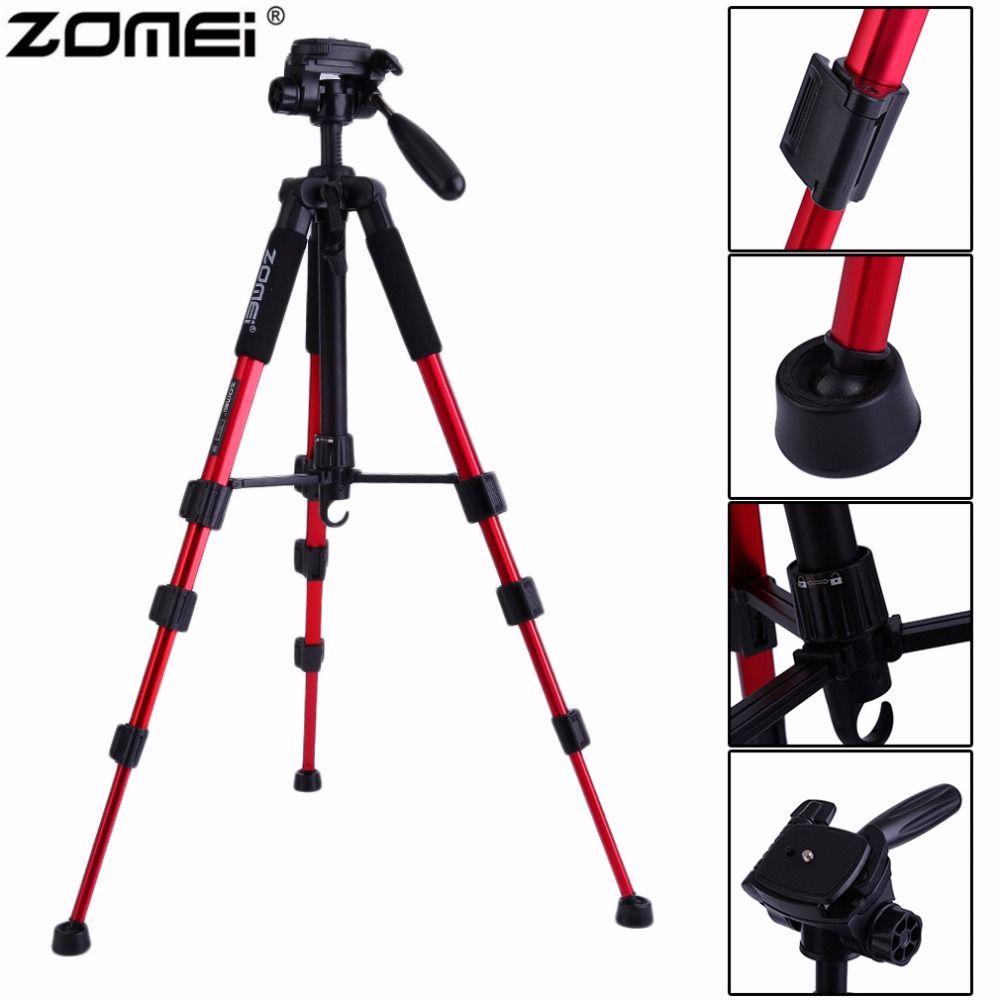 Оригинальный Zomei Портативный Q111 сверхмощный алюминиевый Камера штатив Стенд для SLR Камера с сумкой Прямая доставка