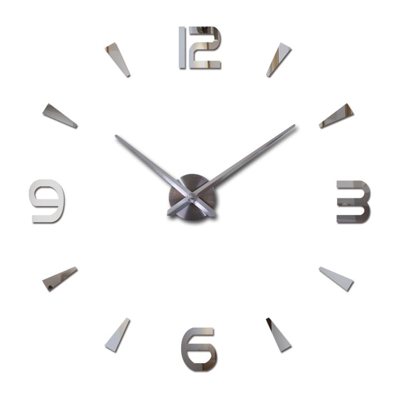 Новинка 2017 настенные часы Reloj де сравнению кварцевые часы гостиная Большой декоративные часы современный horloge murale натюрморт наклейки