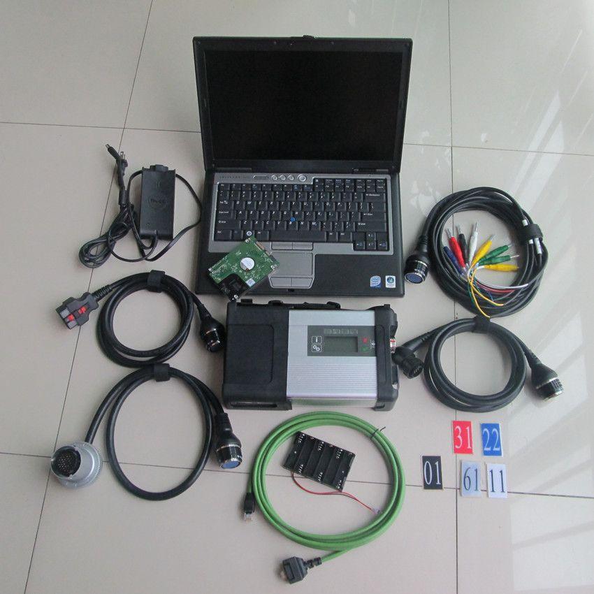 Mb diagnose werkzeug mb star c5 mit laptop für dell d630 mit hdd 320 gb 2018,12 neueste software full set bereit zu verwenden