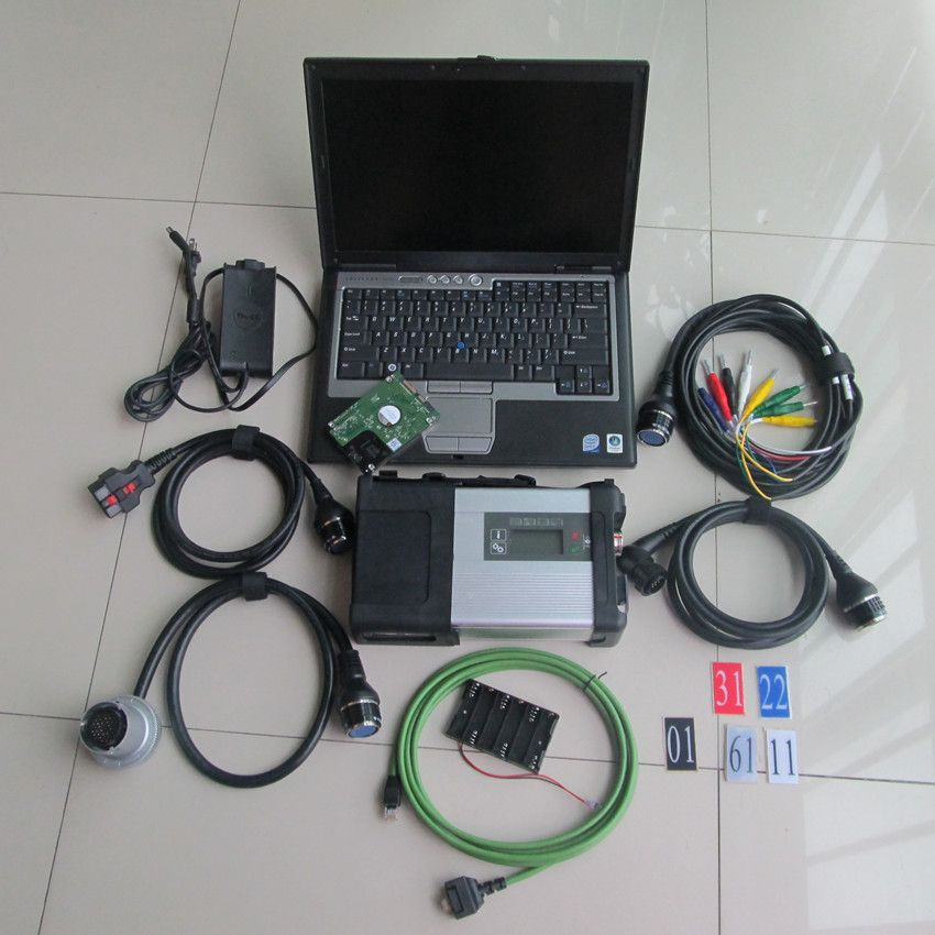 mb diagnostic tool mb star c5 with laptop for dell d630 with hdd 320gb 2018.12 newest software full set ready to use