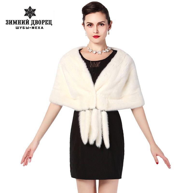 Neue Mode Winter Damen Pelz schal, Schwarz und weiß braun Tippet, pelz schal, gehobenen bankett schal, nerz schal