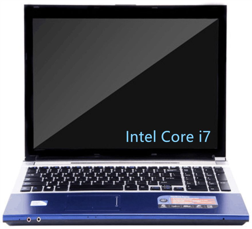 15.6inch 1920x1080P FHD Intel Core i7 CPU 8GB RAM 240GB SSD 2000GB HDD game Laptop Windows 7/10 Notebook Computer with DVD-RW