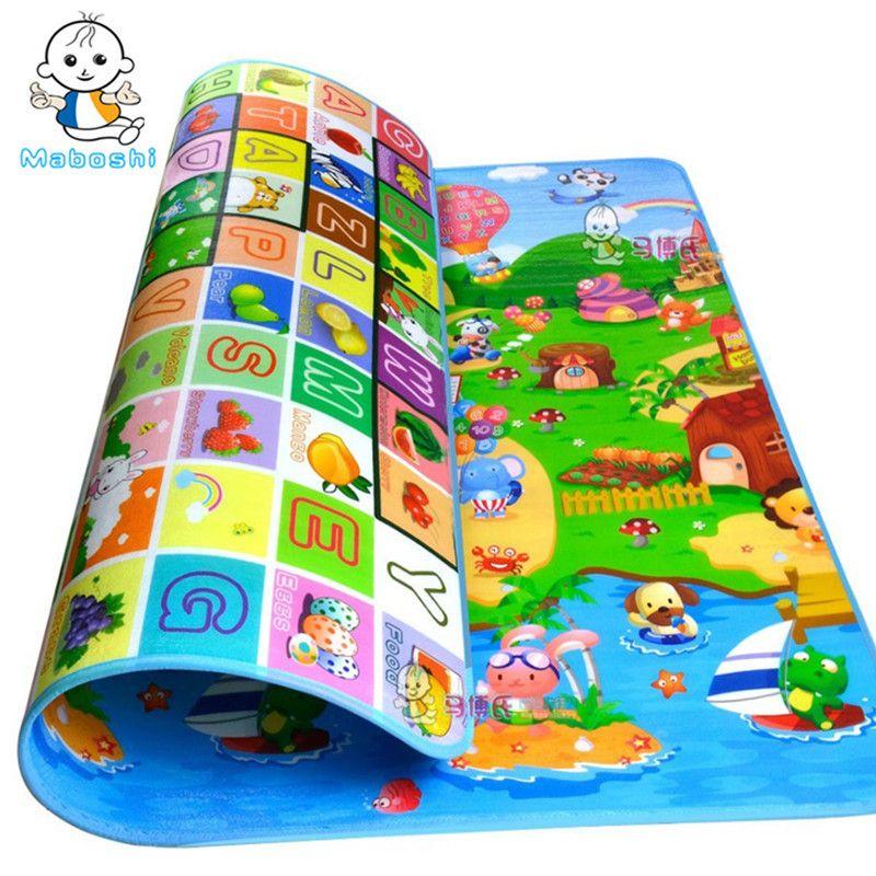 Imperméable bébé ramper tapis enfants jouer tapis doux tapis enfants jeu tapis intérieur et extérieur tapis pique-nique tapis PXD0012
