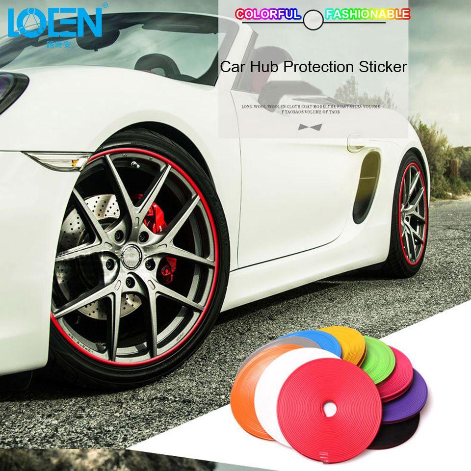 8 M 10 Couleur De Voiture moyeu de roue autocollant de pneu Decal bande décorative pour voiture enjoliveur de roue Protection Soins Couvre pour le golf Opel Toyota Mazda
