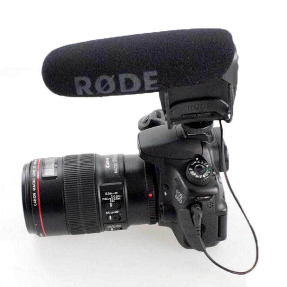 Microphone Rode VideoMIC Pro Compact Shootgun Entrevue Rycote shockmout pour canon nikon 5D2 5D3 6d 7D 50d D800 90 Caméra DV Mic