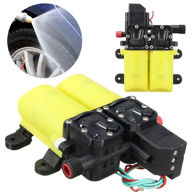 Mini Electric Water Pump DC 12V 80W Auto High Pressure Diaphragm Water Pump For Boat Caravan Marine Motor Pump Mayitr