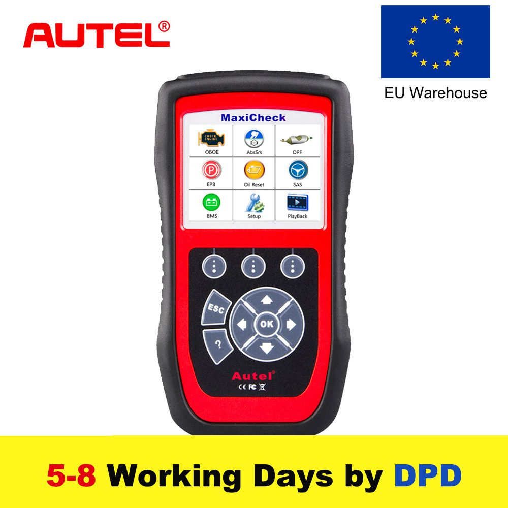 Autel MaxiCheck Pro Car Diagnostic Tool OBD2 Scanner EPB/ABS/SRS/SAS/Airbag/Oil Service Reset/BMS/DPF Code Reader Update Online