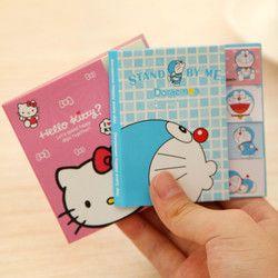 Hello Kitty Totoro Doraemon Baymax lindos notas Kawaii de las etiquetas engomadas Scrapbooking Papeleria etiquetas engomadas del planificador Mem 1963