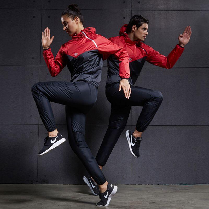 Heat Sweat Running Sets Women Men Sports Suits Polyester Two Piece Gym Tracksuit Fitness Yoga Training Jogging Sportswear TC2876