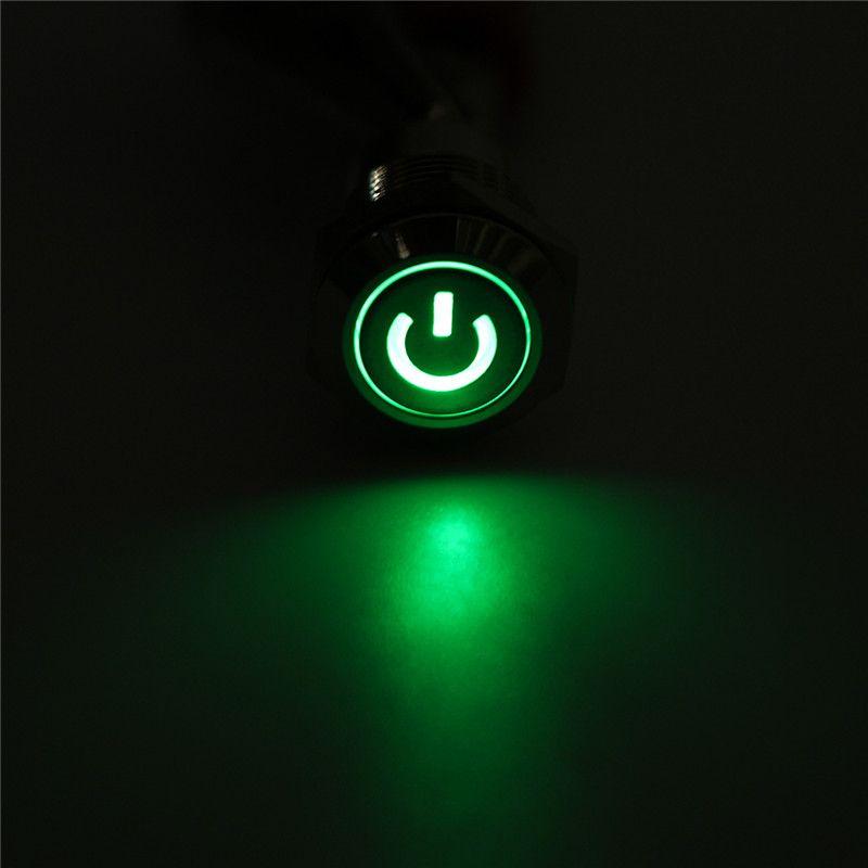 LED Metallschalter Taste Gut Leitende Eigenschaften LED Spannung 12 V Metall Shell Stark und Haltbar 20x10mm günstigen Preis
