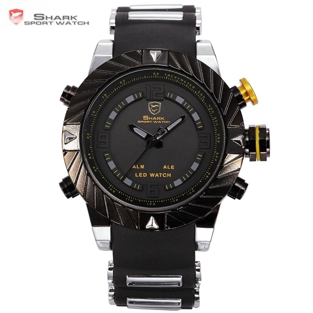 Luxury Goblin Shark Sport Watch Mens Outdoor Fashion Digital LED Multifunction Waterproof Wristwatches Relogio Masculino /SH168