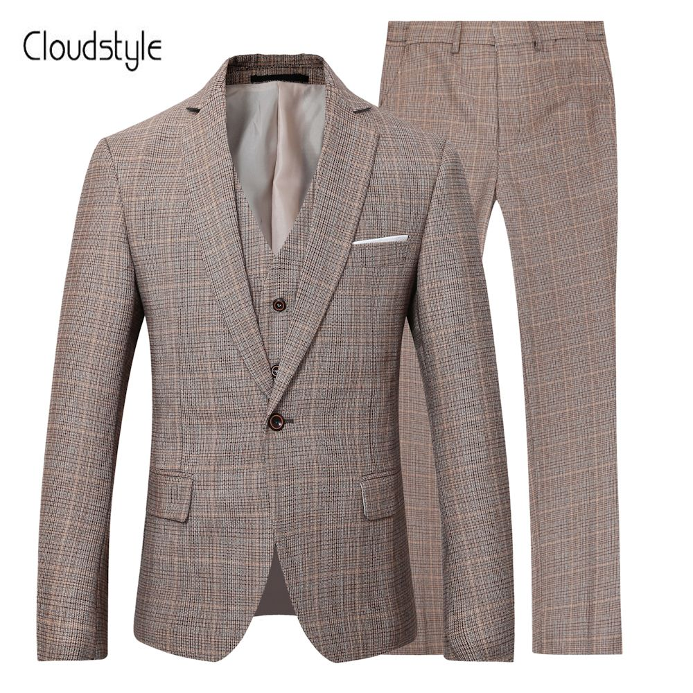 Cloudstyle 2018 мужской пиджак Брюки для девочек жилет одной кнопки Пиджаки для женщин Формальные Бизнес свадебное платье жениха для спокойной Би...