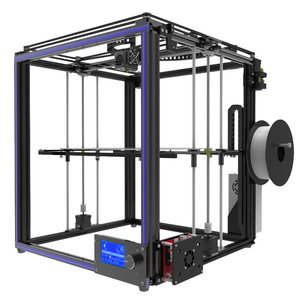 Tronxy Große größe druckbereich 3D drucker X5S DIY kits aluminium profil dichtung 12864 LCD controller bowden extruder Große heatbed platte