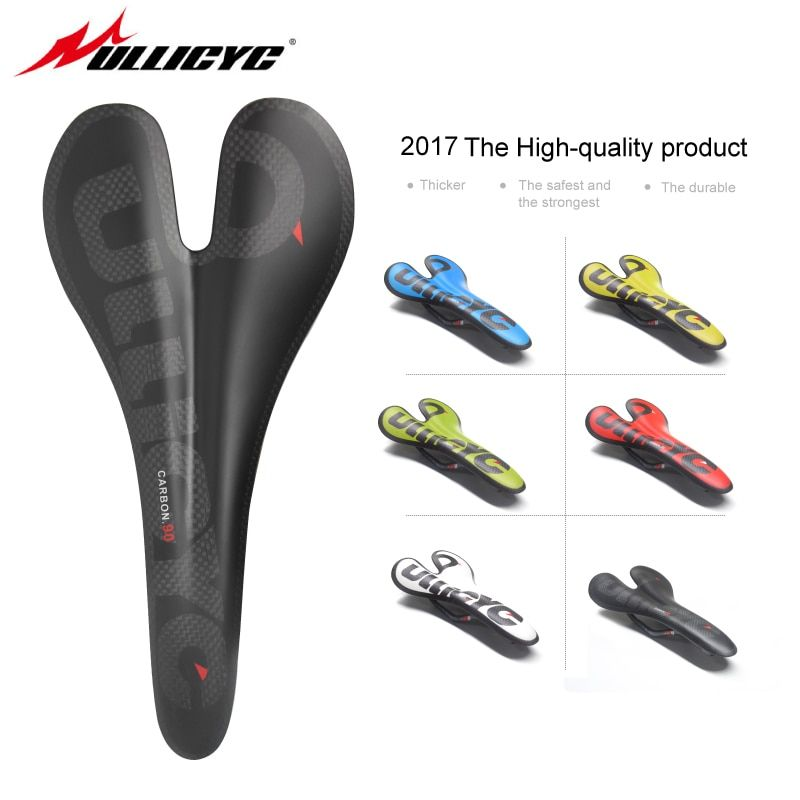 full carbon fiber road mountain bike saddle carbon saddle seat cushion ultralight MTB Road Fold Bike Front Seat 90g ZD128