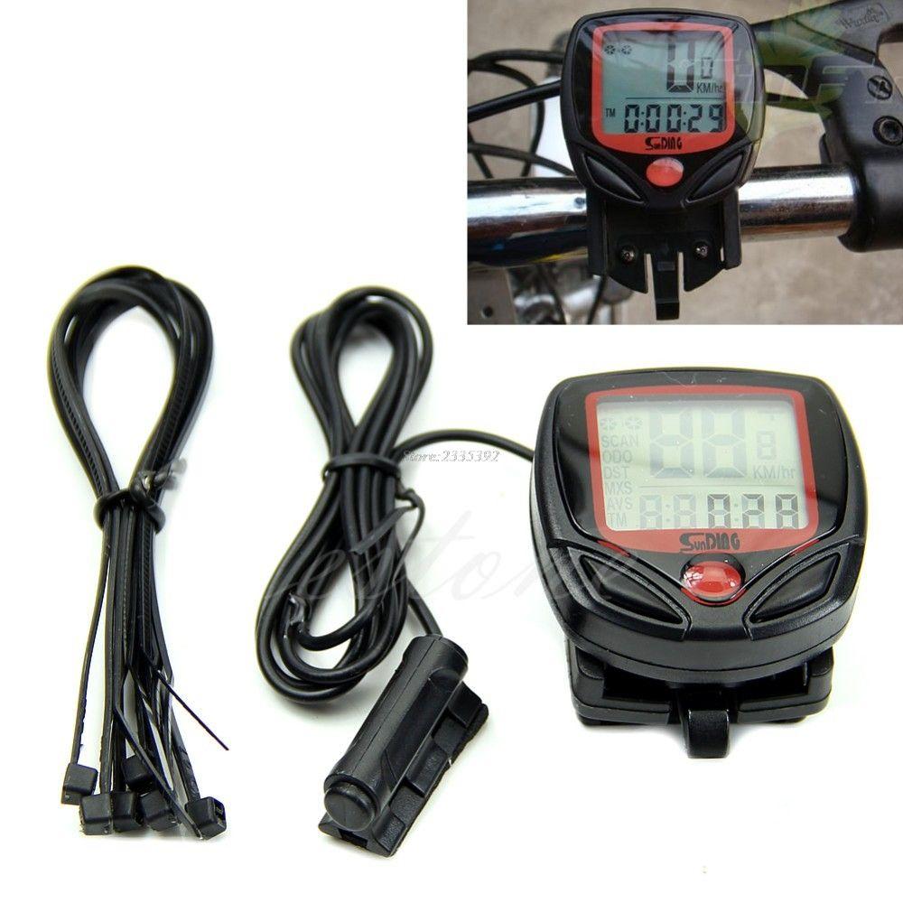 Waterproof Digital LCD Computer Cycle Bicycle Bike Speedometer Odometer JUN13