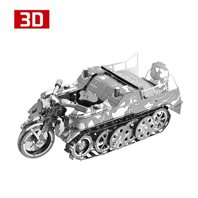 2018 3D Metall Nano Puzzle SdKfz 2 Kleines Kettenkraftrad Motorrad Montieren Modell Kits I22216 DIY 3D Laser Cut Jigsaw Toy