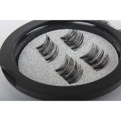 Professional 3D Double Magnetic Eyelashes Natural No Glue Reusable Fake False Eye Lashes Extension Handmade 4PCS