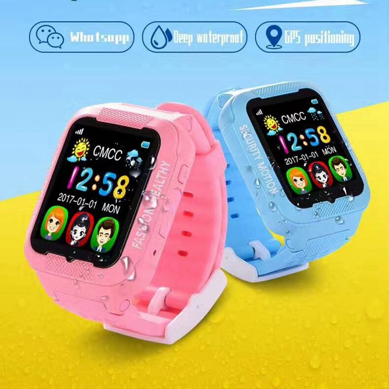 1PCS 2017 new GPS tracker watch kids K 3 with camera 2.5D Touch screen waterproof children GPS tracker SOS Location watches